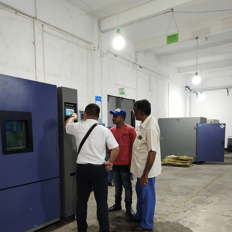 Indian customers tested Grande test chamber at our company